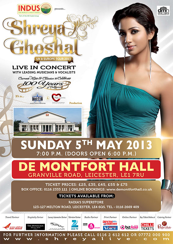 Shreya live in concert 2013 leicester