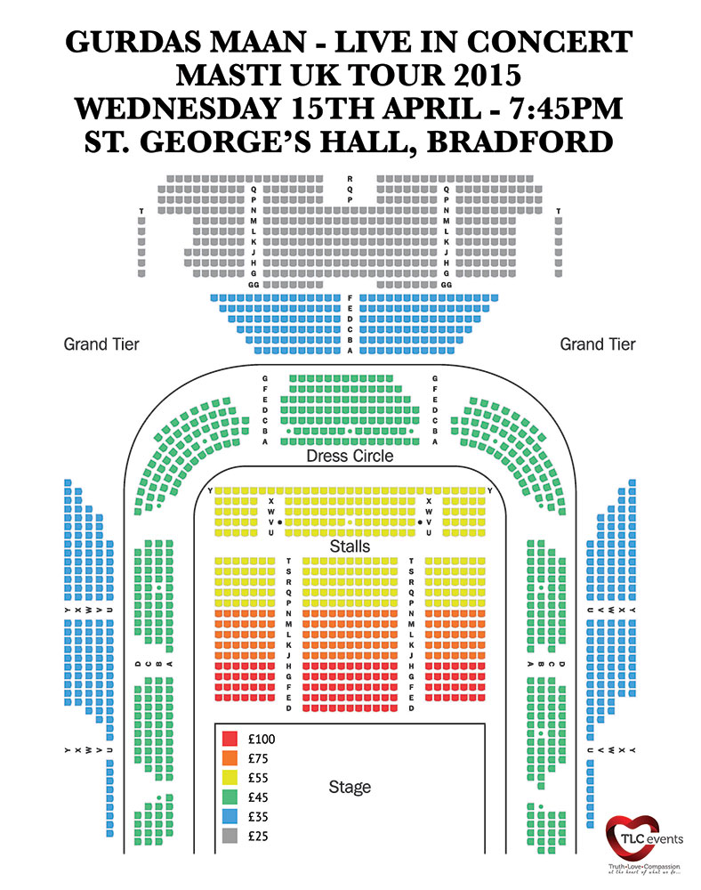 St Georges Hall Seating Plan