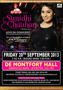 sunidhi-chauhan-leicester-poster